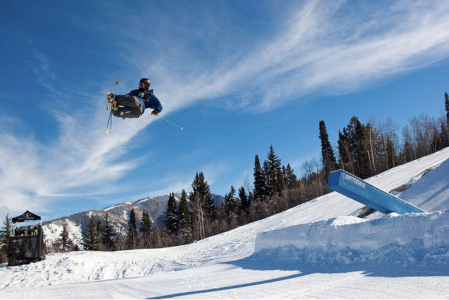 Tim McChesney at the Aspen/Snowmass Open slopestyle. Photo: Jeremy Swanson.
