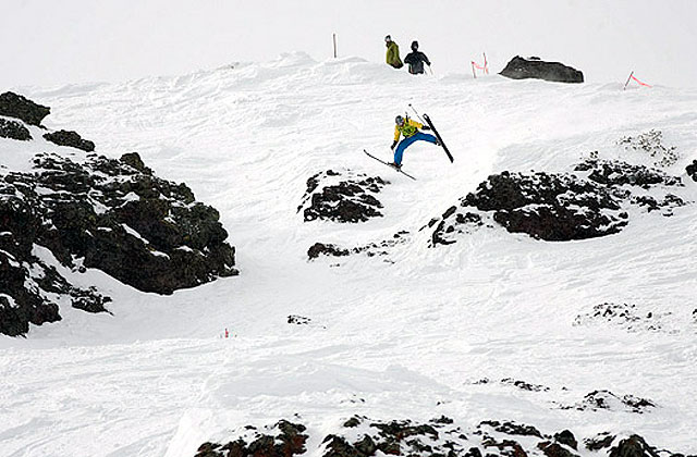 Some sightings from the FWT (Freeskiing World Tour) last year at Kirkwood. Photo: MSI.