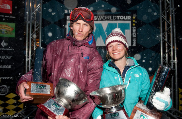 Drew Tabke and Angel Collinson won the FWT final at Snowbird, and the McConkey Cups, for the overall season points race. Photo: Keith Carlsen/MSI.