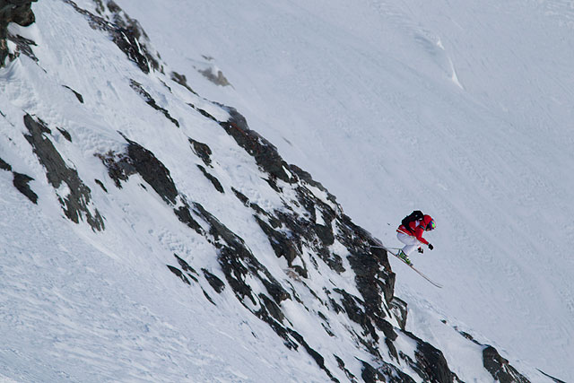 Aurelien Ducroz in flight at Verbier. Photo: C. Margot/freerideworldtour.com