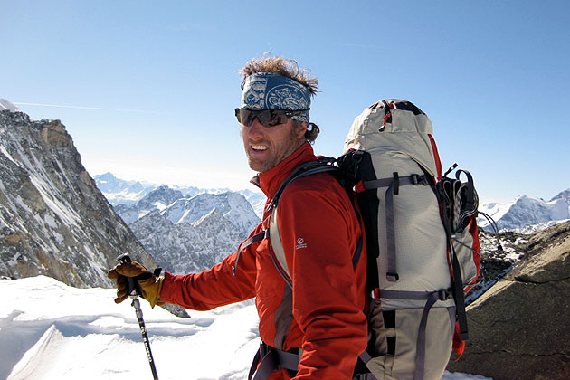 Kip Garre, on the Haute Route in the Alps, Winter 2009. Photo: Kip Garre collection