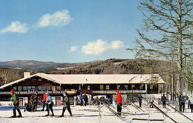 Magic Mountain's original base lodge. Photo: Magic Mountain archives