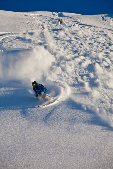 The sh*t always rolls downhill... at Sunshine Village. Photo: Ryan Creary