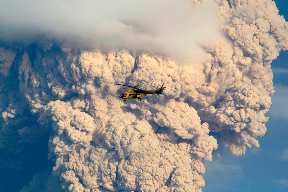 No worries, folks, we're flying today. - Ryan Dunfee, SASS global travel (Actual caption: June 5, south-central Chile, documenting the Puyehue-Cordon Caulle volcanic chain.) Photo: Ivan Alvarado/Reuters