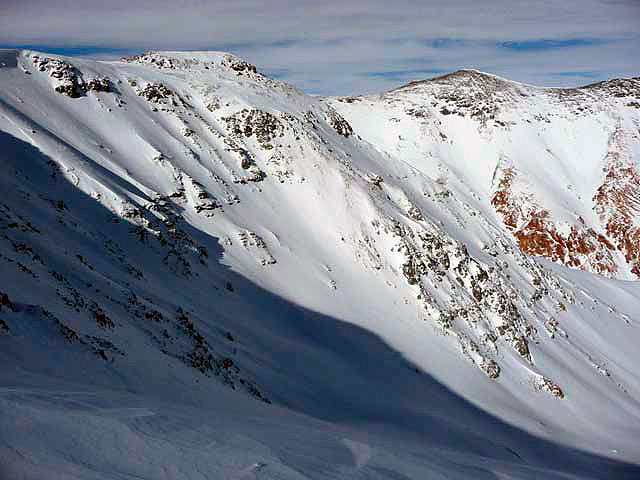 The Cornices venue, from higher up. Photo: Subaru Freeskiing World Tour