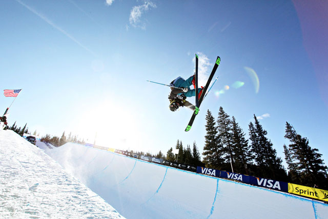 Wing Tai Barrymore collected his first major win at the U.S. Freeskiing Grand Prix at Copper Mt., Colo., on Friday. Photo: Sarah Brunson/U.S. Freeskiing