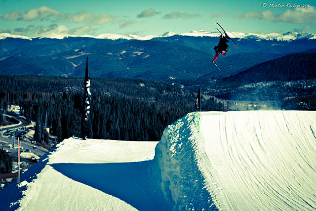 Pre-qualified skier Sammy Carlson gets in some training at Breck. Photo: Martin Rubio