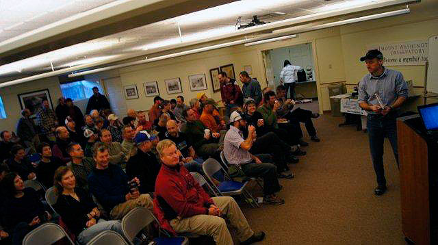 Presentation time at the Mountain Washington Weather Observatory Museum in North Conway, N.H. Photo: Dave Lottman