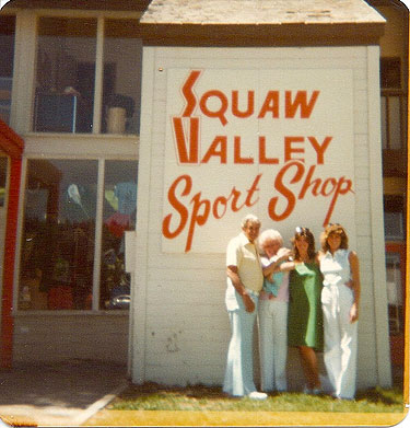 Chris Willard, in the green dress, with her parents and sister in 1978, the year the store opened. Grandma is holding newborn Dax, who is now the shop's general manager. Photo: Sports Shop collection