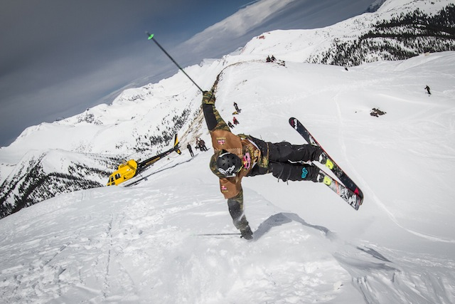 Willey Miller butters off a cornice. Photo: Jim Harris