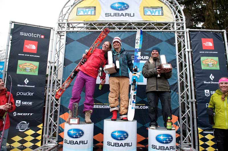 Wright (Left) and Collinson (Center) have shared every podium on the FWT this season
