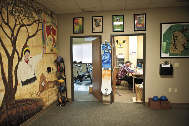 Numerous murals painted in the C.R. Johnson Healing Center promote a positive atmosphere.