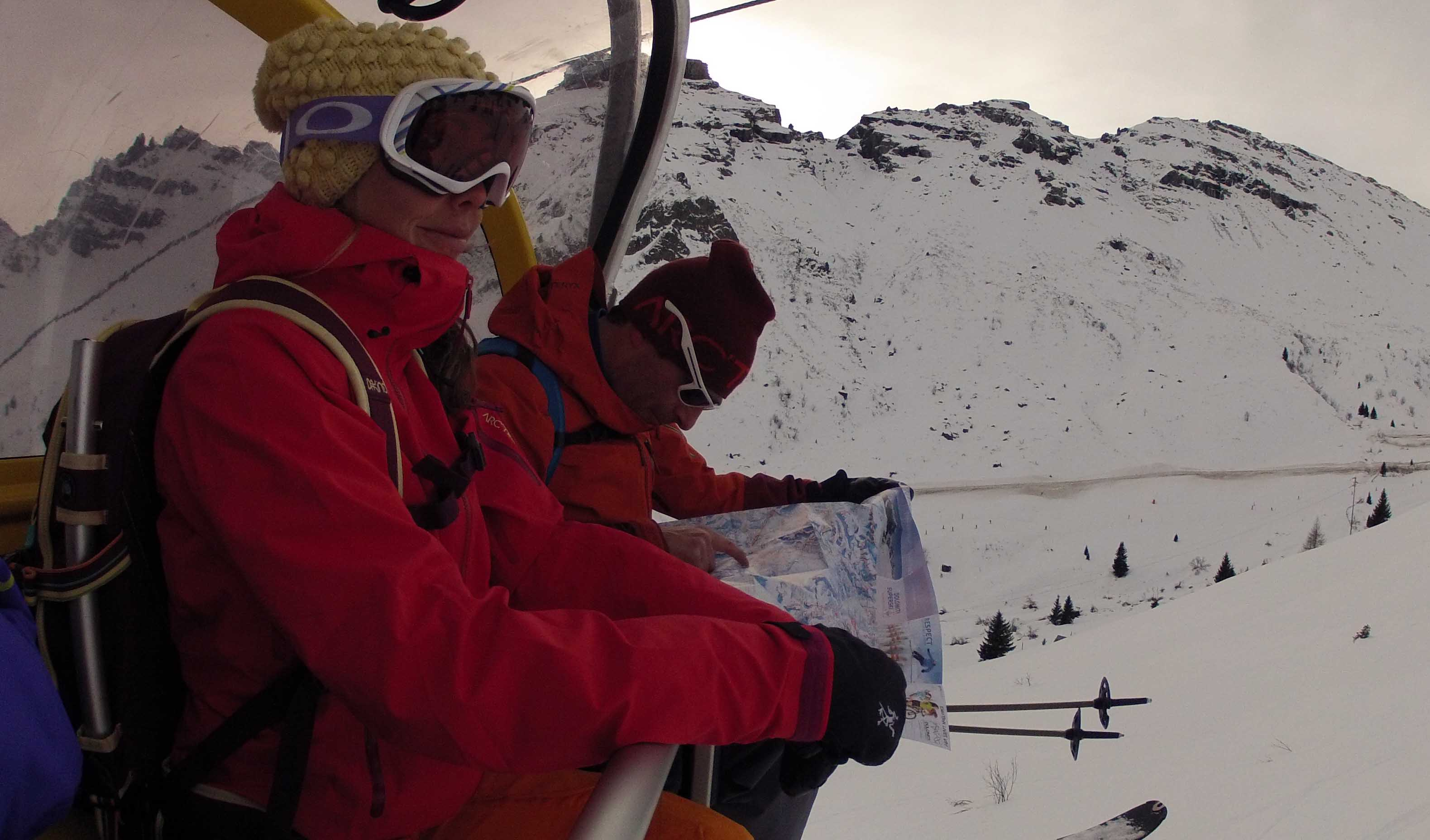 The Chairlift Tour di Dolomiti demands a bit of mapping. PHOTO: JOHN CLARY DAVIES