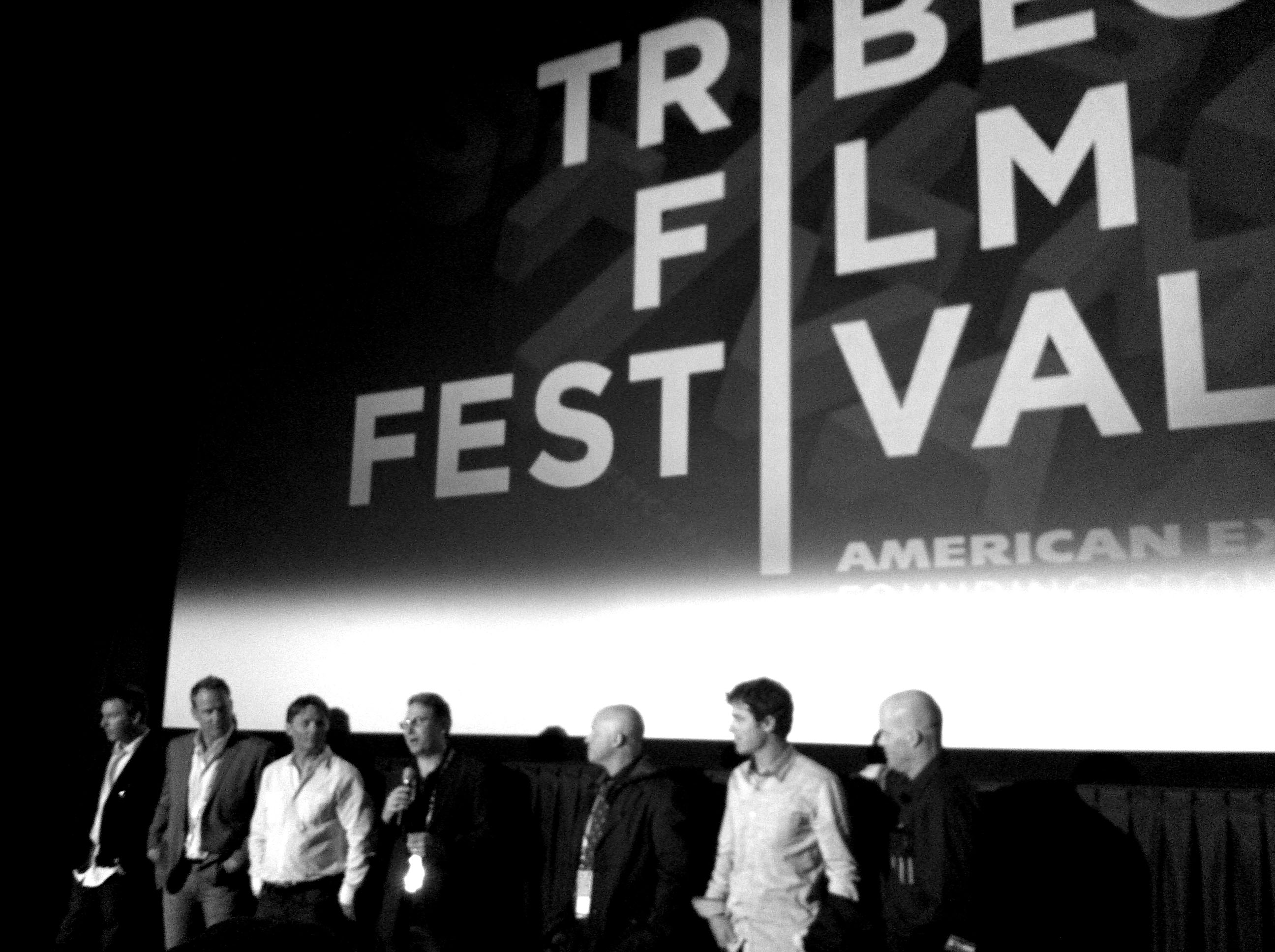 The directors and editors (from left to right): Steve Winter, Rob Bruce, Scott Bradfield, David Zieff, Murray Wais, J.T. Holmes, and Scott Gaffney. PHOTO: Ingrid Backstrom