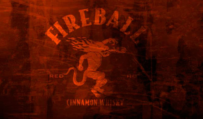 The Fireball mascot hates Fireball so much he throws up fire balls. PHOTO: COURTESY OF FIREBALL