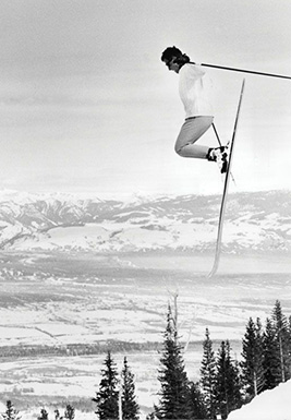 When Don Draper skied, he definitely dressed like this guy. PHOTO: Jackson Hole Archives