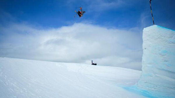 Gus Kenworthy grabs summer camp tail for the U.S. PHOTO: Courtesy of USSA