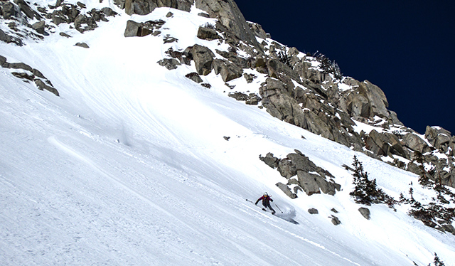 Even after the no-fall-zone descent, Caroline still nails the one-turn-wonder shot. PHOTO: