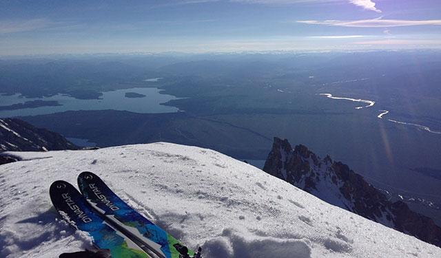 Thursday morning's view from the summit of the Grand Teton. PHOTO: Kit Deslauriers