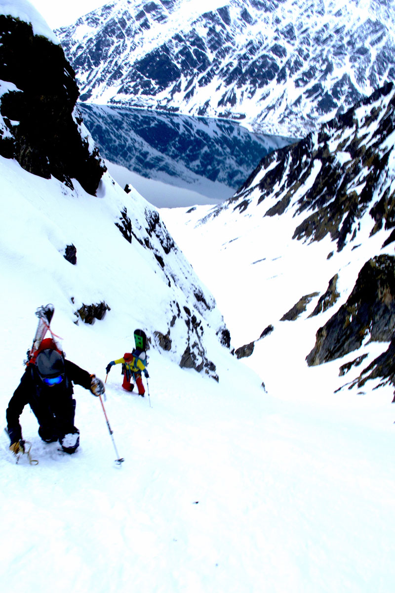 One of the final ascents of the trips provides one of the more stunning views of the experience. PHOTO: Brennan Lagasse