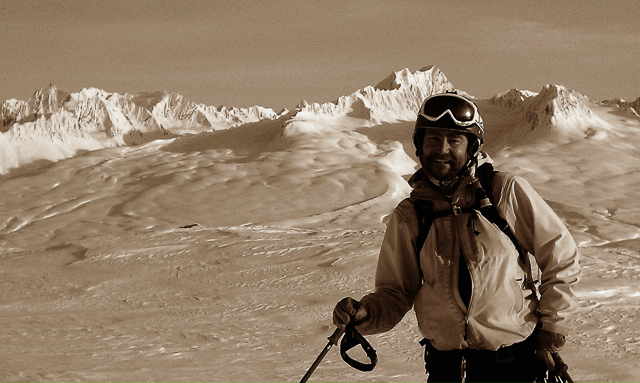 "David ""Gomez"" Johnson, owner of CASA Tours, lives the skier's dream. PHOTO: CASA Tours"
