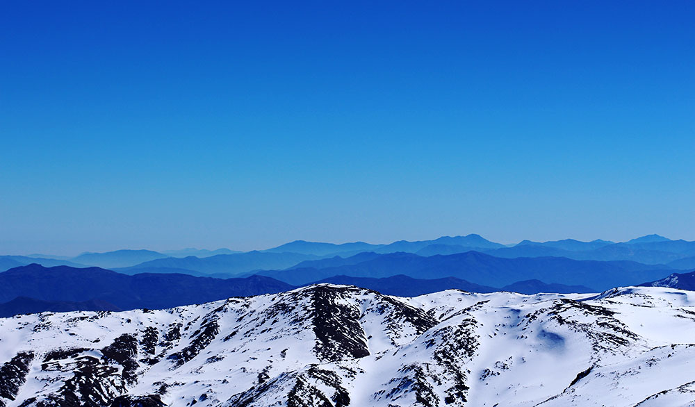 Western skyline from the top of Ski Arpa. PHOTO: Julie Brown