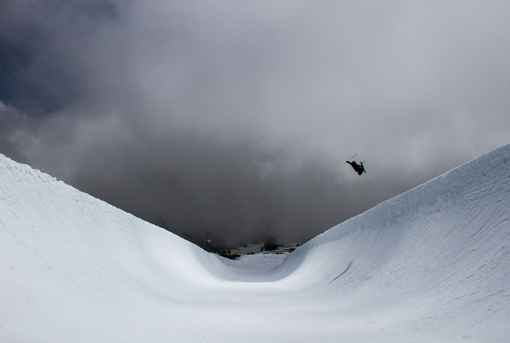 Colby Albino will ski the snowboard superpipe any day. PHOTO: Ethan Stone