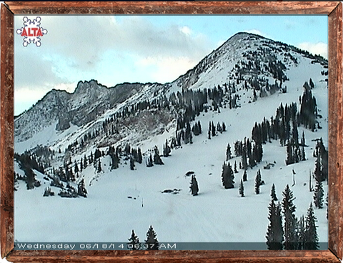 Alta's Snow Cam on Tuesday