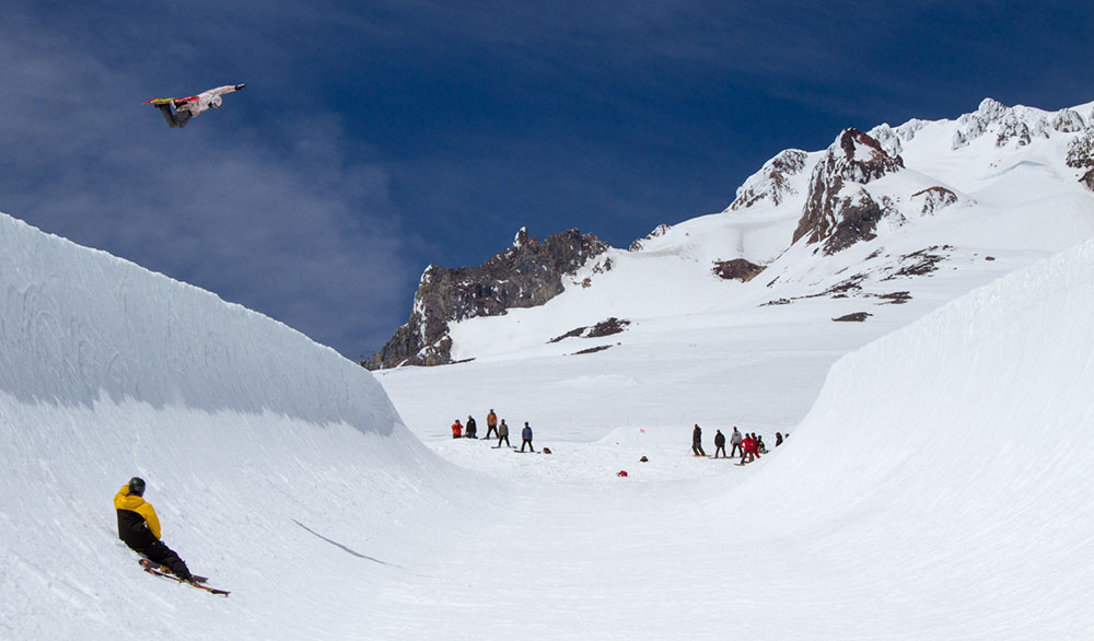 Snowboarders still rule the HCSC pipe. PHOTO: Ethan Stone