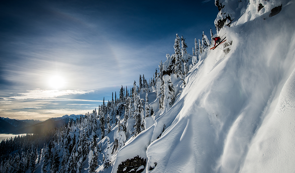 Callum Pettit sticks close to home at Eagle Pass Heli in British Columbia. PHOTO: Blake Jorgenson
