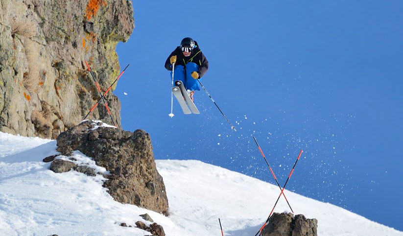 The IFSA will host three collegiate big mountain competitions next season. PHOTO: Chris Saito/IFSA