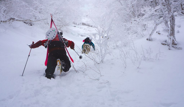 Worth has been taking an East Coast approach to skis for four seasons. PHOTO: Dalten Harben