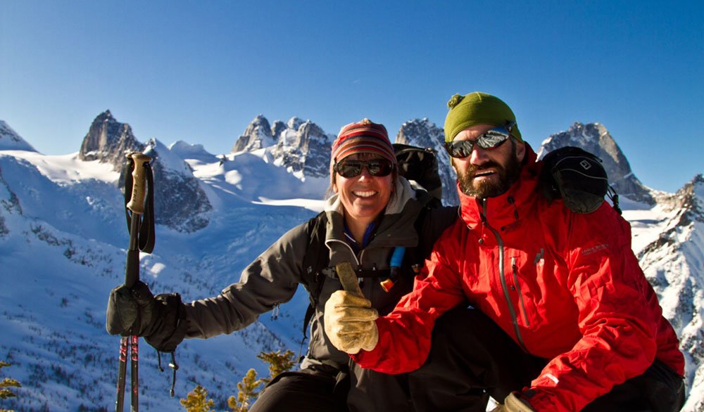 Karl Kelley and his wife, Michelle, in Canada's Bugaboos. PHOTO: Courtesy of Karl Kelley