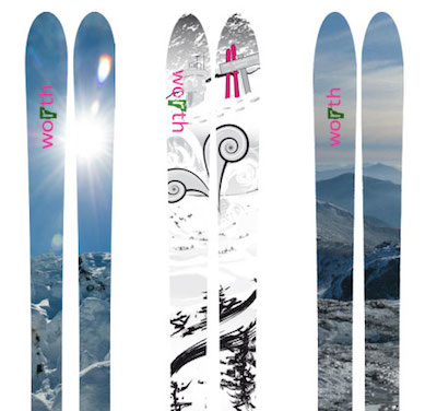 In the 2015 season, Worth plans to release a new line of skis. PHOTO: Worth Skis