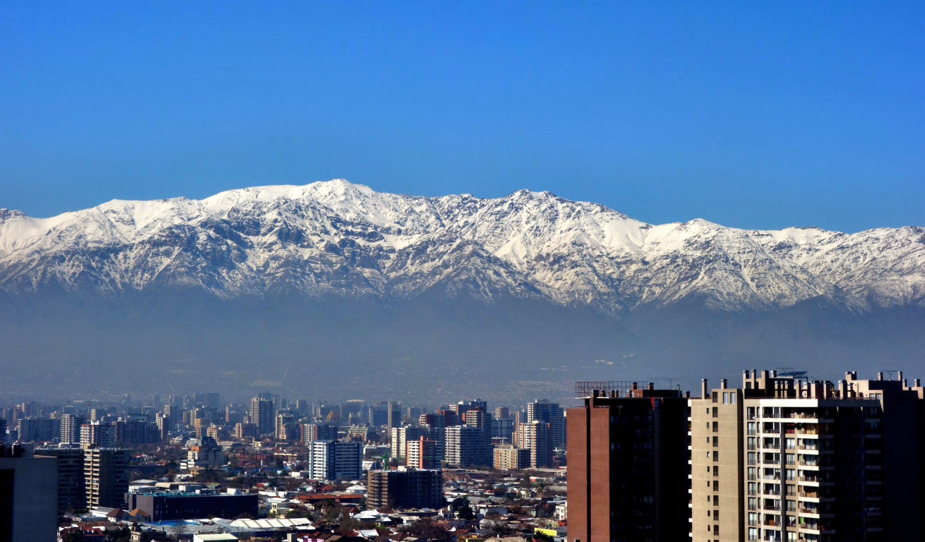 Can't beat this view of the Andes from downtown Santiago, Chile. PHOTO: Griffin Post