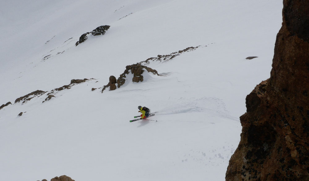 Griffin Post savors sweet September turns in Nevados de Chillan, Chile. PHOTO: Noah Howell/Powderwhores
