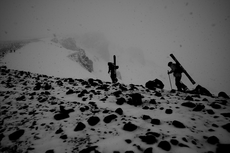 Me y mis hermanos esqui. Glen Morden and Carston Oliver in La Parva, Chile. PHOTO: Adam Clark