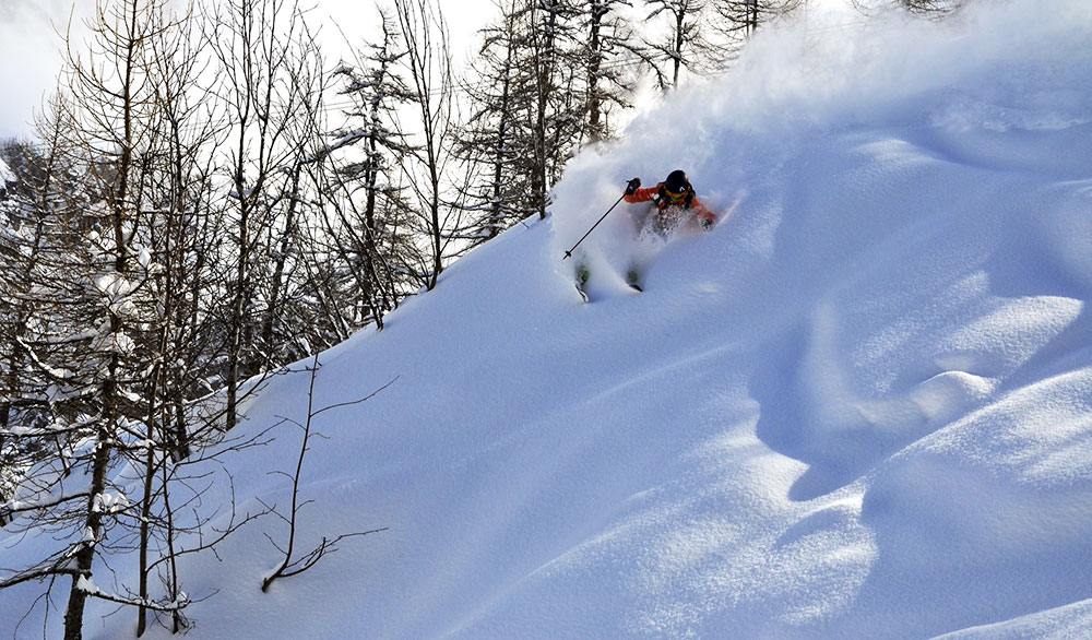 Yup, she rips. Manning once competed for the Freeskiing World Tour. PHOTO: Michele Manning
