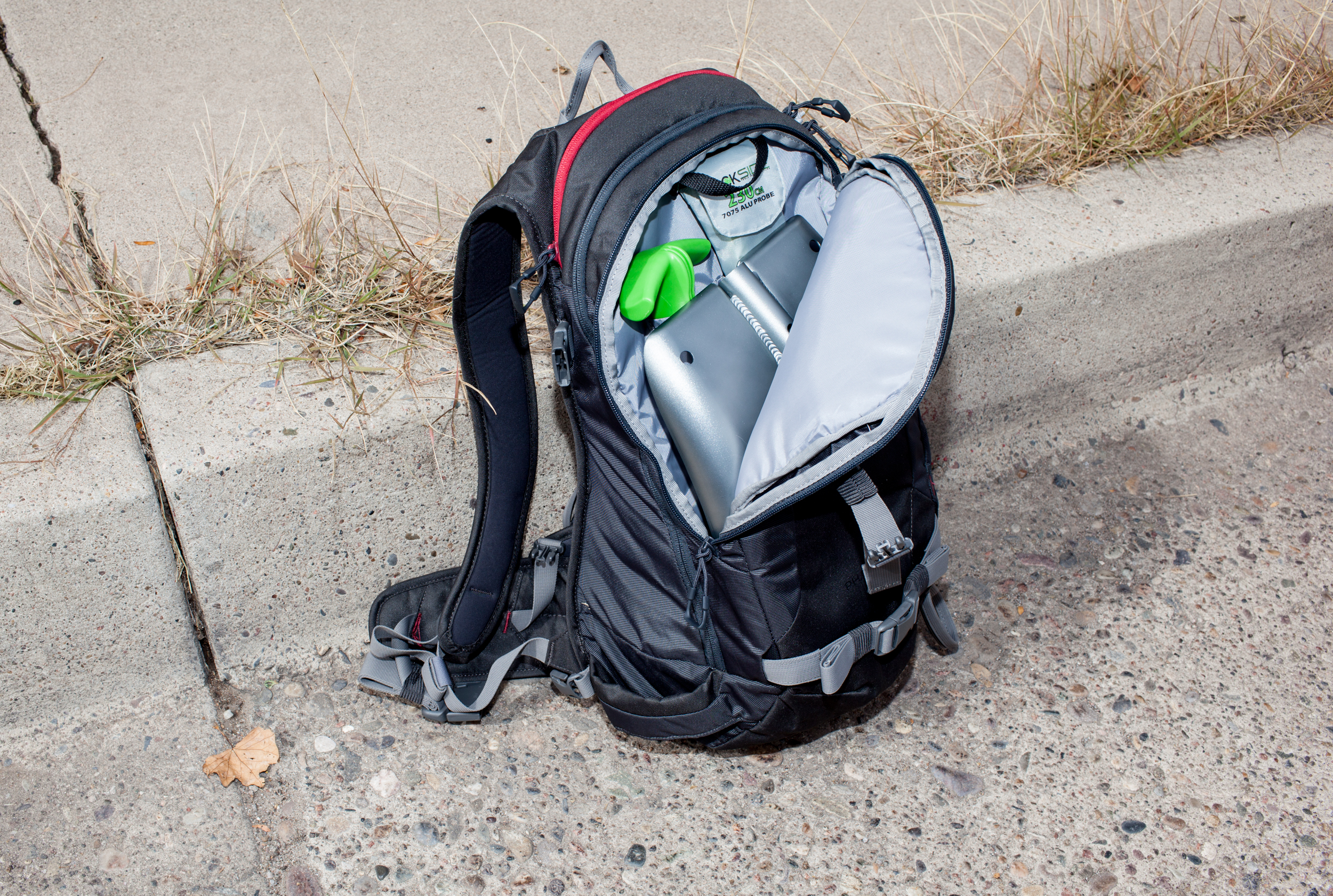 A front pocket for easy access to all your avy gear. PHOTO: Jakob Schiller
