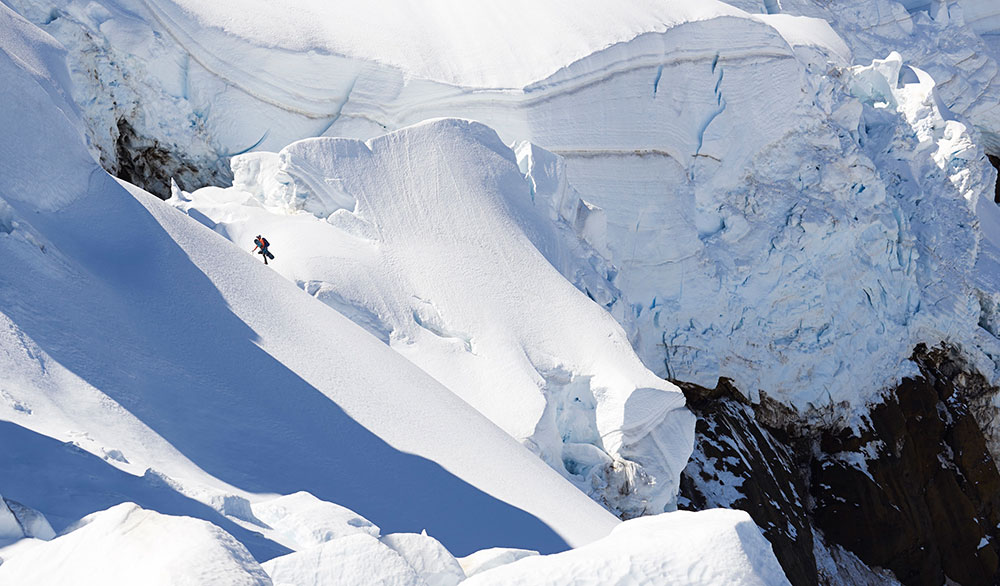 Liz Daley on Mount Baker. PHOTO: Scott Rinckenberger