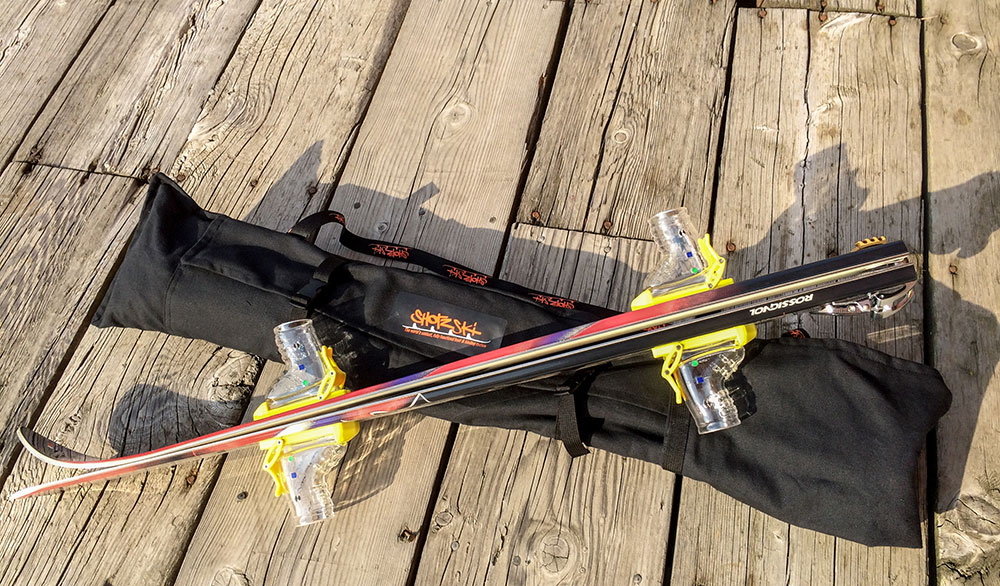 A shot ski built to go. PHOTO: Shotzski