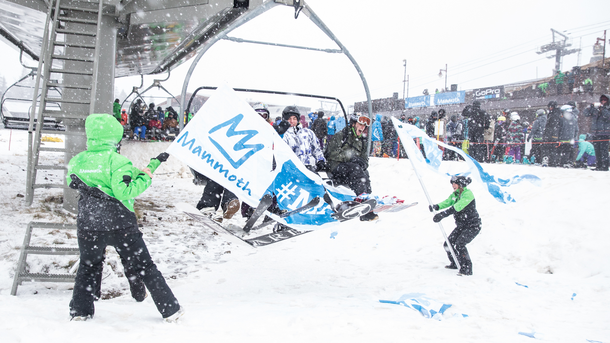 The first first chair at Mammoth Mountain. PHOTO: Courtesy of Mammoth Mountain