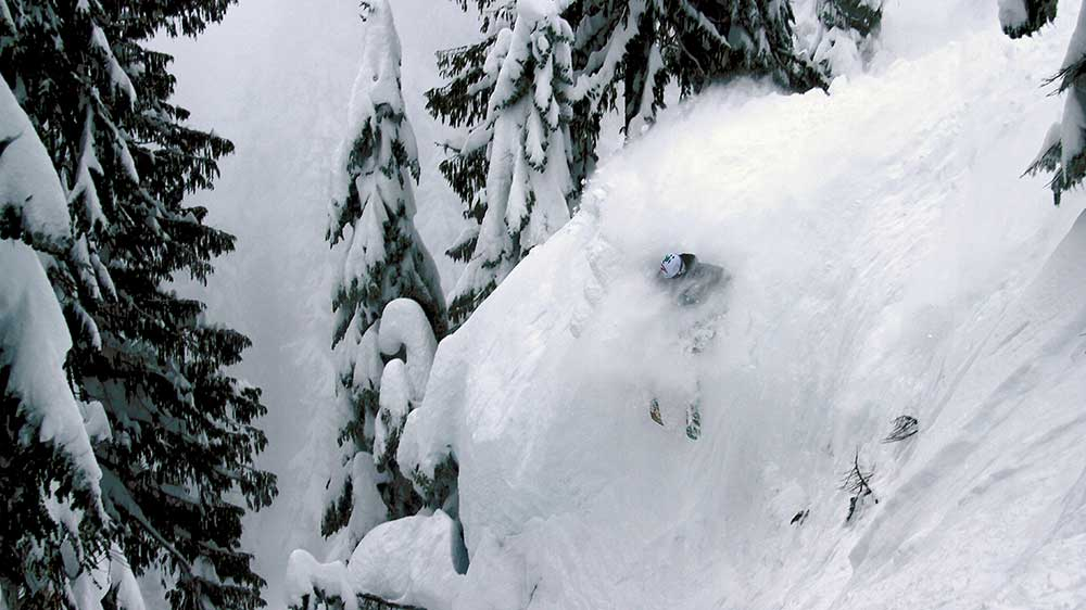 An unknown skier finds those perfectly spaced glades. PHOTO: Courtesy of Mount Washington