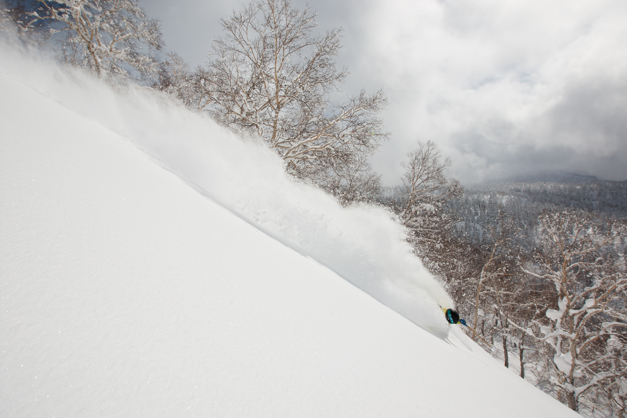 Although unaccustomed to the standard pro skier camera shredfest, Tabke seems pretty OK with photo shoots on Japan's Hokkaido Island. PHOTO: Adam Clark