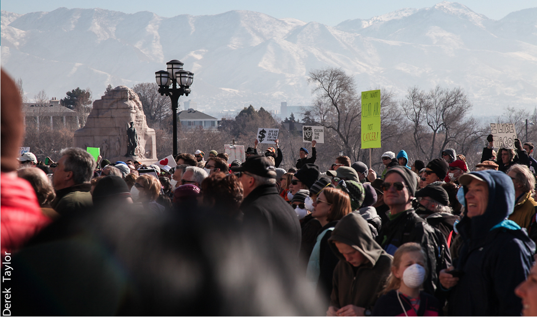 Salt Lake City showed up en masse on January 25, 2014 to protest the increasing pollution in their city. PHOTO: Derek Taylor