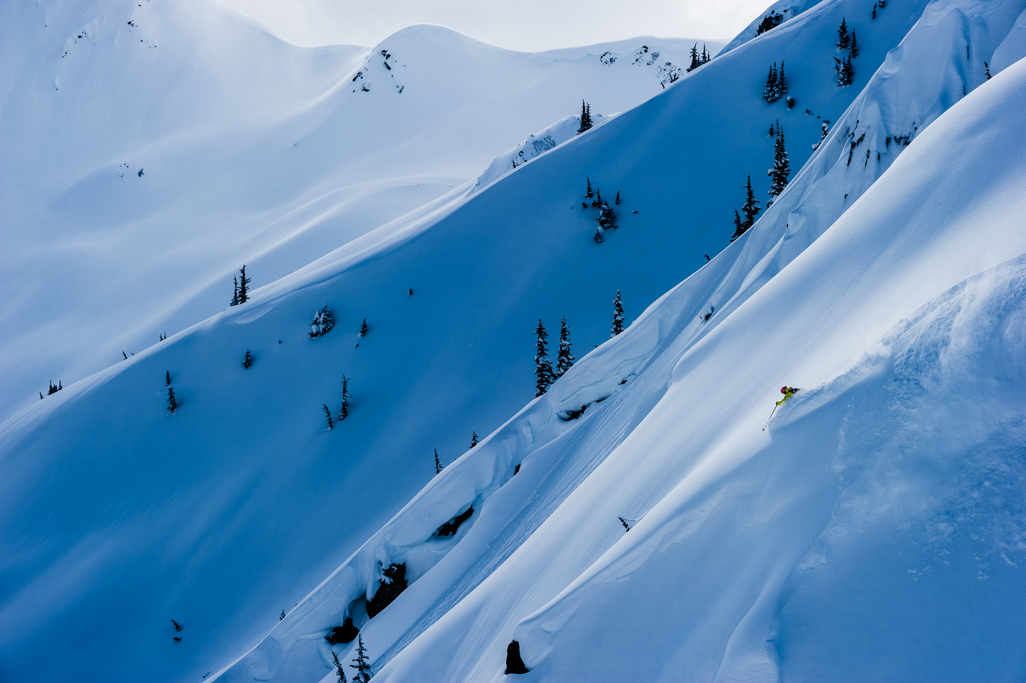 Mattias Fredriksson shot this beautiful photo of Cody Townsend in British Columbia. Browse through more of Fredriksson's best photographs in his In Focus gallery. PHOTO: Mattias Fredriksson