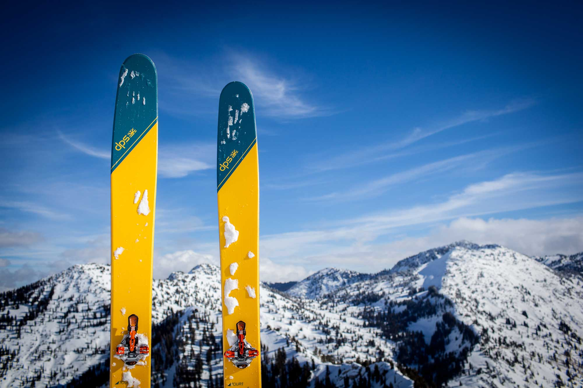 DPS Skis released a new line of feather-light backcountry skis, including the 184cm Wailer 112RP2 Tour1 shown here. PHOTO: Jakob Schiller