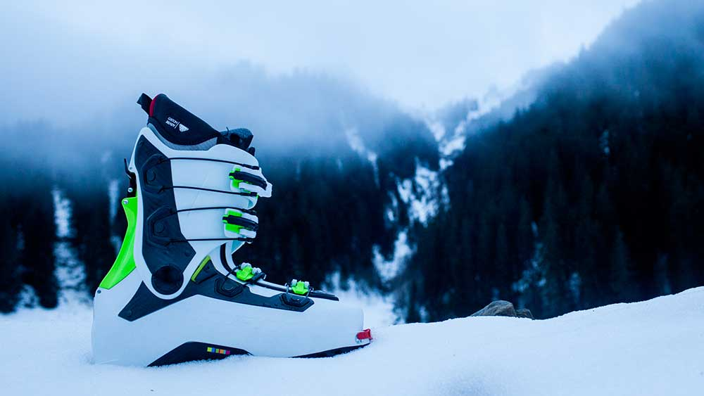 The Khiôn boot, purposely designed to match the Beast 16 bindings.  PHOTO: Jakob Schiller