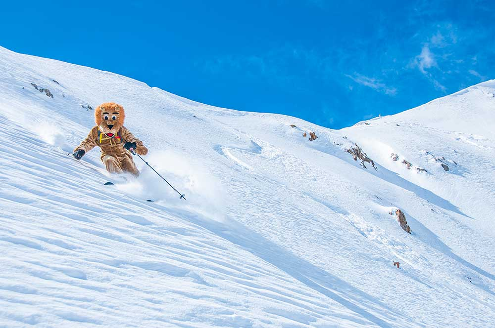 After rubbing one out in his happy safe lion suit, the happy safe lion finds his happy safe place. Photo: Trent Bona