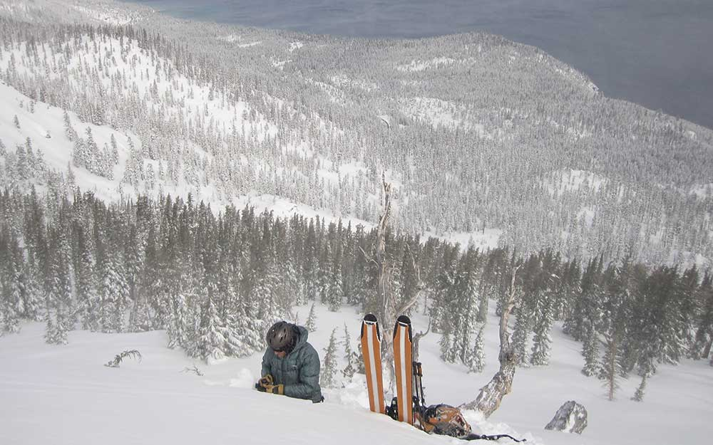 An avalanche forecaster gathers data to educate and keep skiers safe. PHOTO: Sierra Avalanche Center